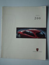 Rover 200  Brochure 97 #2 Nederlands