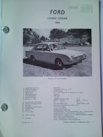 Ford Consul Corsair  Vraagbaak ATH 64 #1 Nederlands