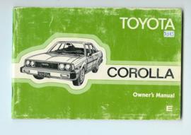 Toyota Corolla  Instructieboekje 80 #5 Engels
