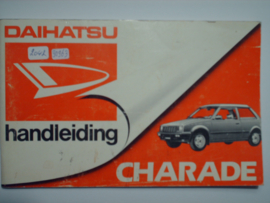 Daihatsu Charade  Instructieboekje 83 #1 Nederlands
