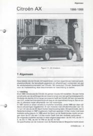 Citroen AX  Vraagbaak ATH 86-88 #1 Nederlands