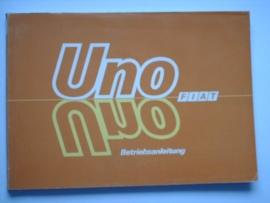 Fiat Uno  Instructieboekje 86 #2 Duits