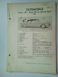Oldsmobile 88 Super 88 Ninety eight  Vraagbaak ATH 54 #1 Nederlands