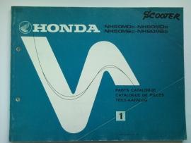 Honda NH50MD NH50MS NH80MD NH80MS  Onderdelenboek 82 #3 Engels Frans Duits