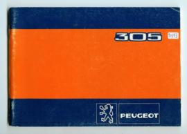 Peugeot 305  Instructieboekje 82 #2 Nederlands Duits Frans Italiaans