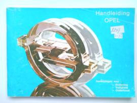 Opel Kadett Ascona Manta Record  Instructieboekje 79 #4 Nederlands