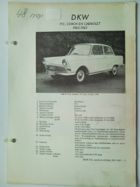 DKW F12  Vraagbaak ATH 63-65 #1 Nederlands