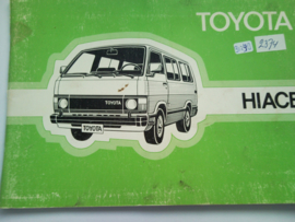 Toyota Hiace  Instructieboekje 83 #2 Nederlands