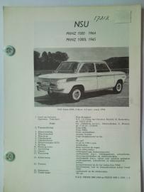 NSU Prinz 1000 1000L  Vraagbaak ATH 65 #1 Nederlands