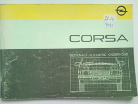 Opel Corsa A  Instructieboekje 86 #1 Nederlands