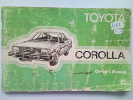 Toyota Corolla  Instructieboekje 81 #1 Engels