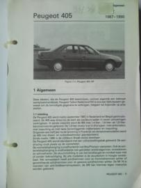 Peugeot 405  Vraagbaak ATH 87-90 #1 Nederlands