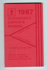 Oldsmobile Cutlass Ciera and Cruiser  Instructieboekje 87 #1 Engels