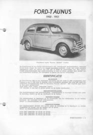 Ford Taunus  Vraagbaak ATH 50-51 #1 Nederlands