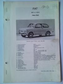 Fiat 850 850S  Vraagbaak ATH 64-65 #1 Nederlands