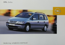 Opel Zafira A  Instructieboekje 2003 -02 #1 Nederlands