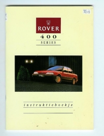 Rover 400  Instructieboekje 91 #1 Nederlands