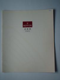 Rover 200  Brochure 93 #1 Nederlands