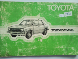 Toyota Tercel  Instructieboekje 82 #2 Nederlands