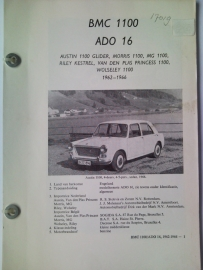 BMC 1100 Ado 16 Vraagbaak ATH 62-66 #1 Nederlands