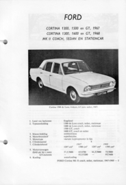 Ford Cortina 1300 1500 1600 GT Vraagbaak ATH 67-68 #3 Nederlands
