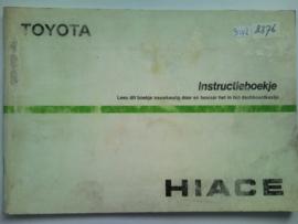 Toyota Hiace  Instructieboekje 86 #1 Nederlands