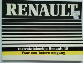 Renault 19  Instructieboekje 79 #1 Nederlands