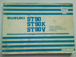 Suzuki ST90  Instructieboekje 81 #1 Nederlands Frans Engels