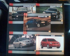 Pontiac Bonneville Grand prix Grand am Sunfire Vibe  Brochure .03 #1 Engels