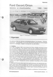 Ford Escort Orion  Vraagbaak ATH 90-92 #1 Nederlands