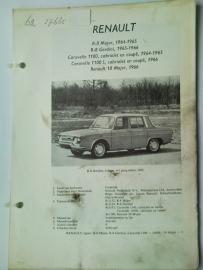Renault R8 R10  Vraagbaak ATH 64-66 #1 Nederlands