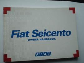 Fiat Seicento  Instructieboekje 98 #2 Engels