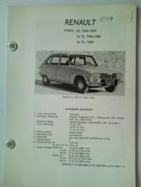 Renault 16  Vraagbaak ATH 66-69 #2 Nederlands