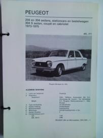 Peugeot 204 304  Vraagbaak ATH 73-75 #3 Nederlands