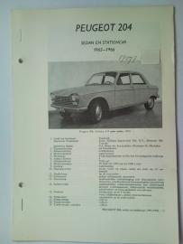 Peugeot 204  Vraagbaak ATH 65-66 #1 Nederlands