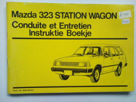 Mazda 323  Instructieboekje 81 #1 Nederlands Frans