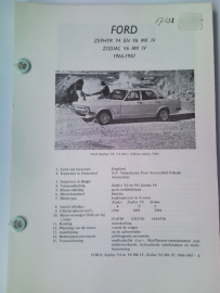 Ford Zephyr V4 en V6 Zodiac V6  Vraagbaak ATH 66-67 #1 Nederlands