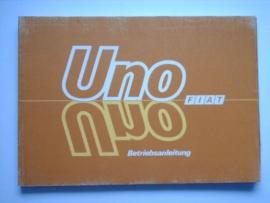 Fiat Uno  Instructieboekje 85 #1 Duits