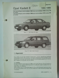Opel Kadett E  Vraagbaak ATH 84-86 #1 Nederlands