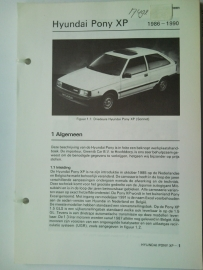 Hyundai Pony XP  Vraagbaak ATH 86 #1 Nederlands