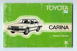 Toyota Carina  Instructieboekje 81 #1 Engels