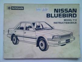 Nissan Bluebird Model T12 Instructieboekje 86 #1 Nederlands