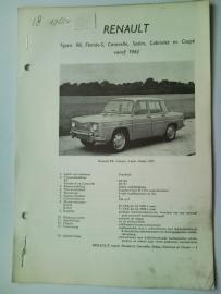 Renault R8  Vraagbaak ATH 62 #2 Nederlands