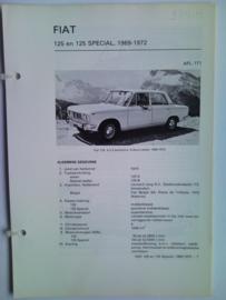 Fiat 125  Vraagbaak ATH 69-72 #1 Nederlands
