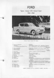 Ford Consul 315 Consul Capri  Vraagbaak ATH 61-62 #1 Nederlands