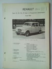 Renault R3 R4  Vraagbaak ATH 61-63 #2 Nederlands