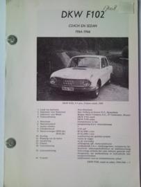 DKW Auto Union F102 Vraagbaak ATH 64-66 #2 Nederlands
