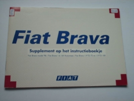 Fiat Bravo Supplement Instructieboekje 96 #1 Nederlands