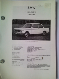 BMW 1600 1600 Ti  Vraagbaak ATH 66-68 #1 Nederlands