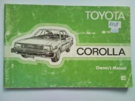 Toyota Corolla  Instructieboekje 81 #2 Engels